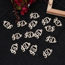 15Pcs Wooden I DO Table Confetti Scatter Vintage Rustic Wedding Party Decor Craft Scrapbook Decorations