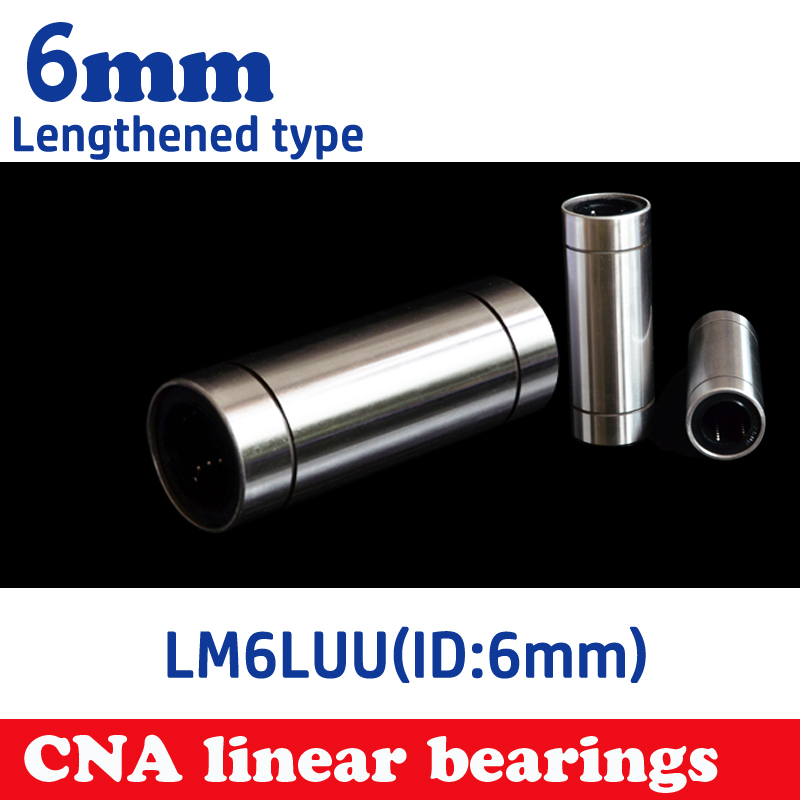 2 pcs cheap LM6LUU 6mm Longer Linear Ball Bearing Bushing Linear Bearings CNC parts 3d printer parts LM6L lm6luu 6 x 12 x 35mm carbon steel linear motion ball bearings