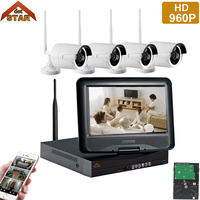 Stardot 960P HD Wireless Video Security Camera System 4pcs 4CH Outdoor WiFi IP Security Bullet Camera