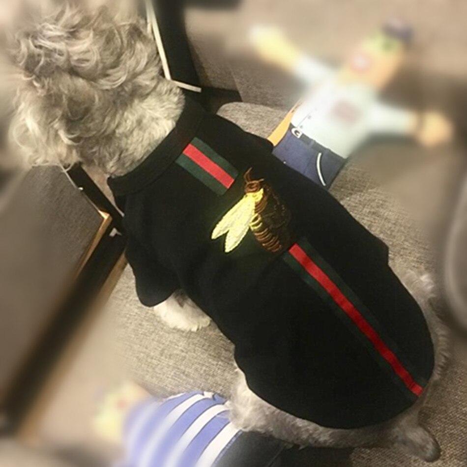 De luxe Designer Chien Vêtements Chat Vêtements T-shirt Manteau Chihuahua Chiot Yorkshire Petit Animaux Hoodies Pour Le Printemps Et Automne
