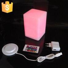 D10*H15cm Light LED square light-emitting Bar Stool cube colorful color PE four-emitting furniture Creative Free Shipping 50pcs
