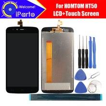 5.5インチhomtom HT50 lcdディスプレイ + タッチスクリーンデジタイザアセンブリ100% オリジナル新液晶 + タッチデジタイザーHT50 + ツール