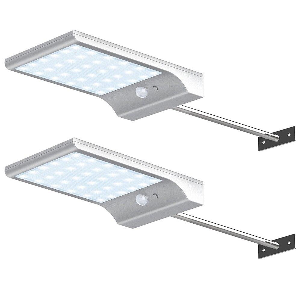 Newest 450LM 36 LED Solar Power Street Light PIR Motion Sensor Lamps Garden Security Lamp Outdoor Street Waterproof Wall Light
