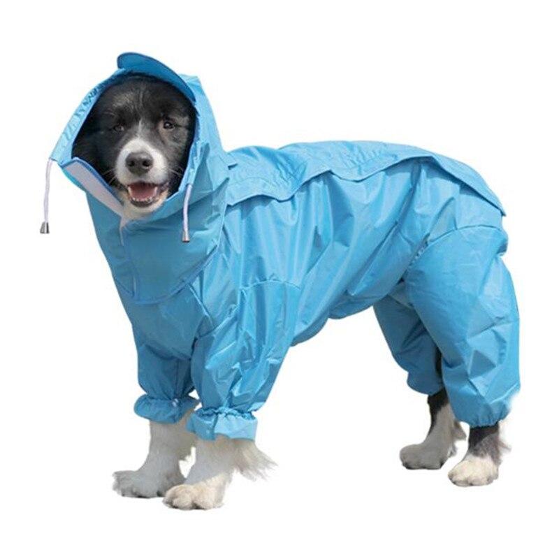9aaf4e280 Pet capa de Chuva Grande Cão Roupas Para O Pequeno Grande Cão Labrador  Retriever Samoyed Chuva À Prova De Água Casaco Jaqueta Traje Roupas Apperal