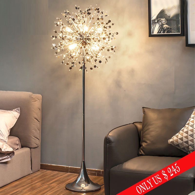 Ganeed современная мода торшер с кристаллами гостиная, спальня лампы французский держатель из нержавеющей стали подставка свет металлический