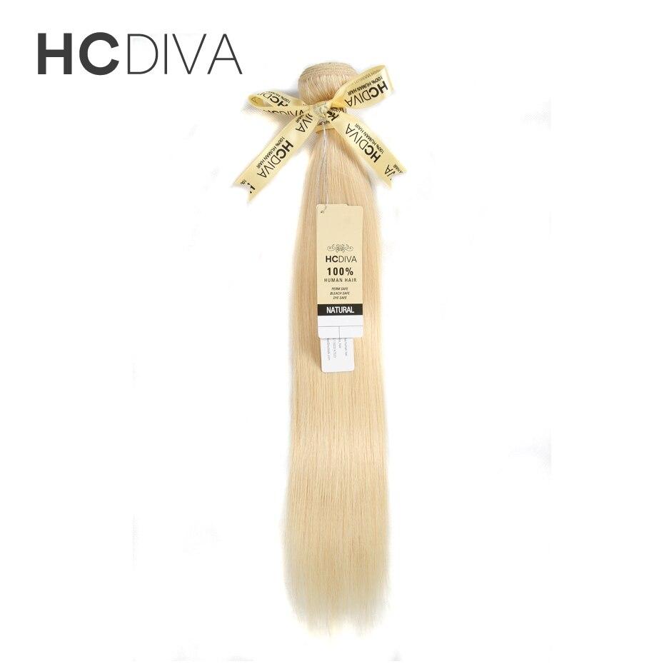HCDIVA brésilien cheveux raides paquets 613 cheveux humains blonds paquets 100% miel platine Remy Extensions de cheveux 10-30 pouces