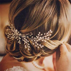 Clip Handmade Hair-Comb Decoration Flowers Wedding-Hair Bride Korean Beads Fashion Women