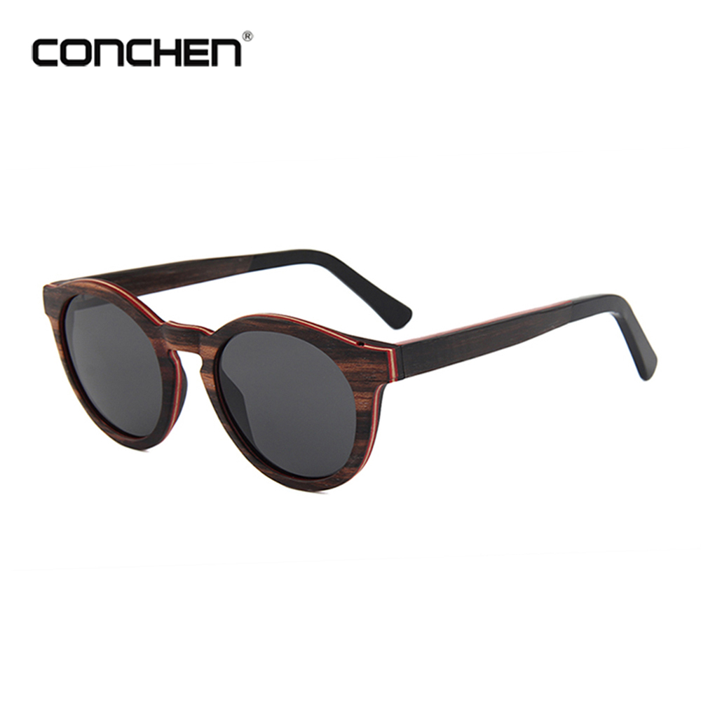 CONCHEN Popular Sunglass Brands Your Logo Skateboard Real Mirror Sunglasses