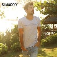 SIMWOOD Brand New Men Clothing T Shirt Summer Short Sleeve O Neck Letter Casual Slim T