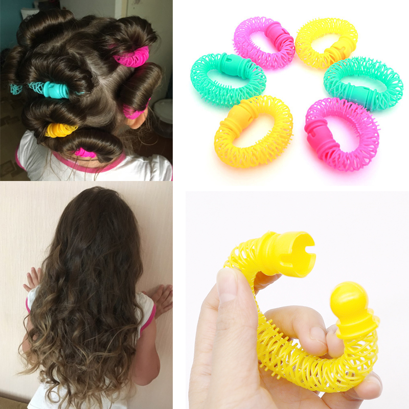 Image 2 - 8Pcs New Magic Hair Donuts Hair Styling Roller Hairdress Magic Bendy Curler Spiral Curls DIY Tool for Woman Hair Accessories-in Braiders from Beauty & Health