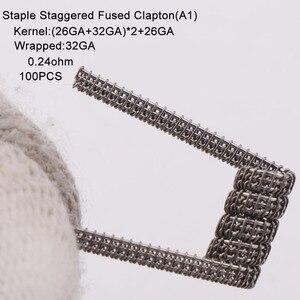 Image 2 - XFKM a1 100pcs/box staple fused clapton coil Seper juggernaut Clapton coil Alien taiji super Clapton Heating Resistance rda coil