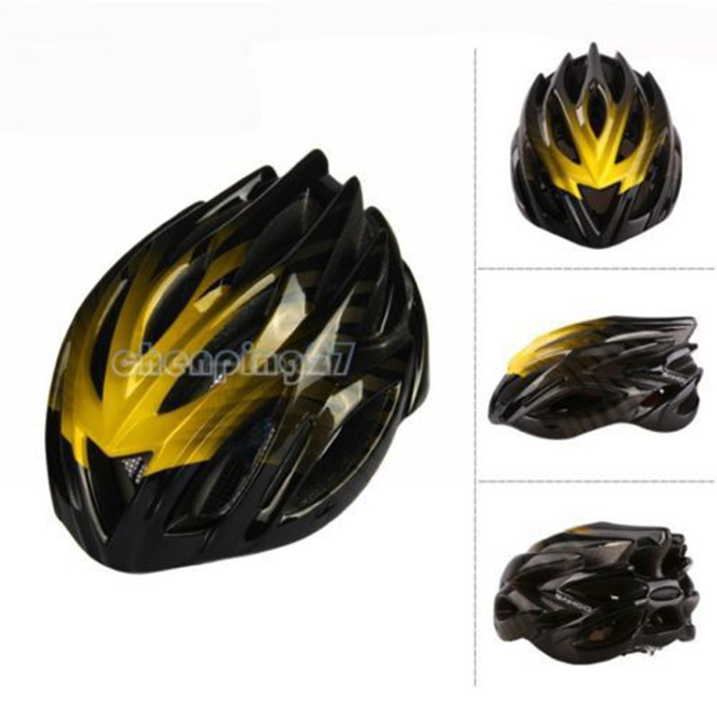 ФОТО Cool Men Yellow Cycling Bike Sports Bicycle Adult Safety 23 Holes Helmet with Insect Net 91661-F
