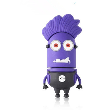 Cartoon Purple Minions USB 2.0 Flash Drive 4GB 8GB 16GB 32GB u disk thumb pendrive memory stick gift /souvenir/Wholesale S227 ...