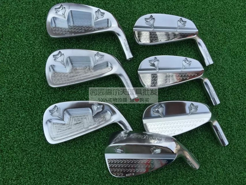 Playwell GP GI PLATINUM   forged  carbon steel  with  CNC cavity  golf   iron heads simulation mini golf course display toy set with golf club ball flag