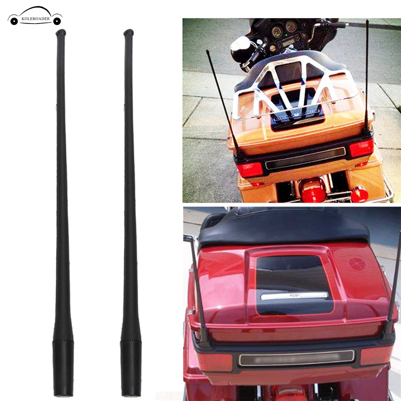 2x Motorcycle AM FM Antenna Aerial For 1989 2017 Harley Davidson Electra Road Street Glide Tour Trike Ultra Classic KOLEROADER /