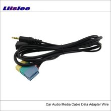 Liislee Original Plugs To AUX Adapter Connector For Hyundai Sonata NFC ix35 Tucson Elantra Car Audio Media Cable Data Music Wire