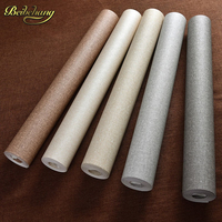 Papel De Parede Straw Modern Vinyl Wallpaper Solid Color Embossed PVC Wallpaper Classic Wall Paper Bedroom