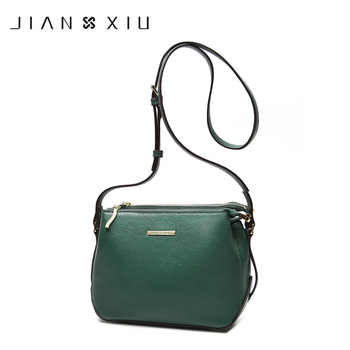 JIANXIU Genuine Leather Bags Designer Bags Famous Brand Women Messenger Bags 2018 Double Zip Compartment Shoulder Crossbody Bag - DISCOUNT ITEM  44% OFF All Category