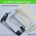 """10 Шт./лот LCD Сенсорный Экран Ближний Середина Рамка Рамка для Apple iPhone 6 4.7 """"черный Белый С Бесплатным 3 М Клей Наклейки"""