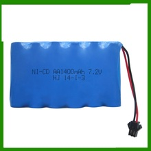 7.2V 1400mAh Ni-CD AA battery for 2014-SF RC car/ RC boat /RC tank free shipping