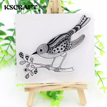 KSCRAFT Bird and Branch Clear Silicone Stamp for DIY scrapbooking/photo album Decorative craft