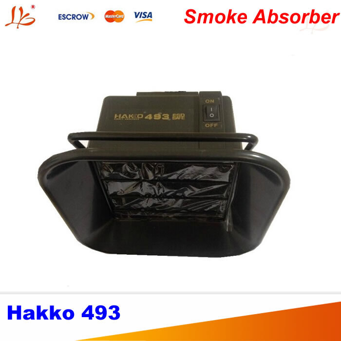 Freeshipping 220V Hakko 493 Solder Smoke Absorber ESD Fume Extractor with 10 pcs free Activated Carbon Filter Sponge freeshipping 220v eu plug hakko 493 esd fume extractor soldering smoke absorber with 12 pcs free activated carbon filter sponge