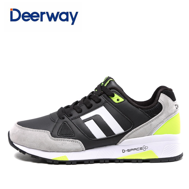 deerway 2017 new sneakers running shoes for men zapatos de hombre mens cheap spor ayakkab chaussure sport high quality leather