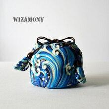 WIZAMONY образец чашки и кастрюли тканевый мешок хлопок и лен чай Cozies хранения сумки утолщаются с мягким ворсом хоп-карман ткань мешок