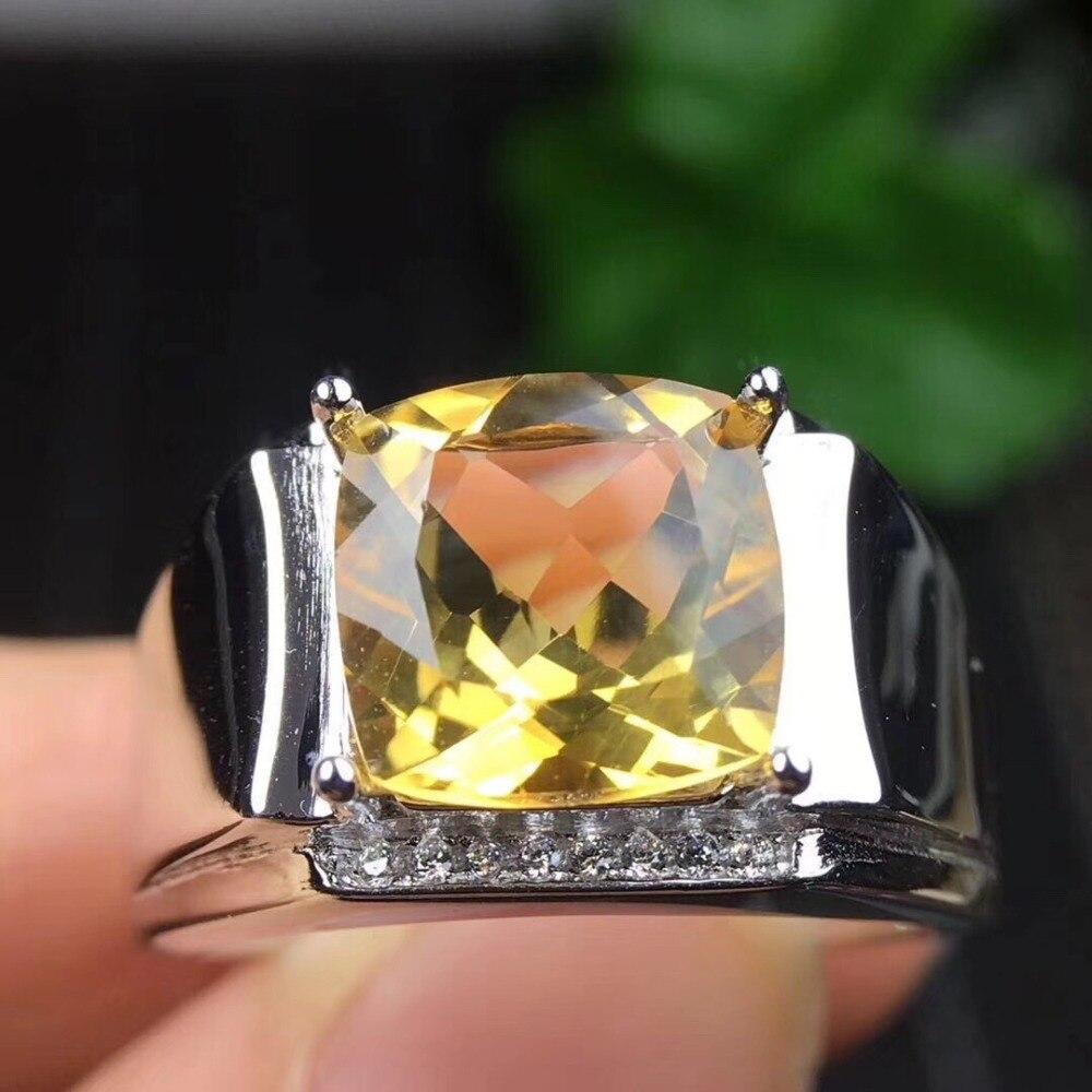 Мужское кольцо, настоящее и натуральное цитрин кольцо, Бесплатная доставка, Настоящее натуральное цитрин, Стерлинговое Серебро 925 пробы, то