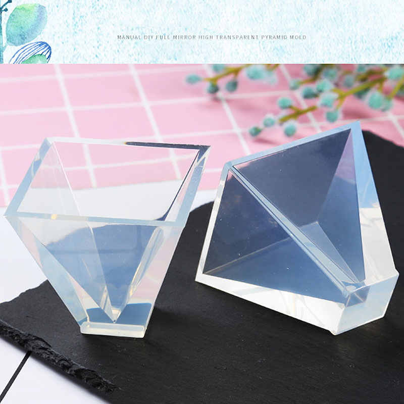 20/30/40/50mm Transparent Pyramid Silicone Molds DIY Resin Decorative Craft Jewelry Making Mold Resin Molds For Jewelry