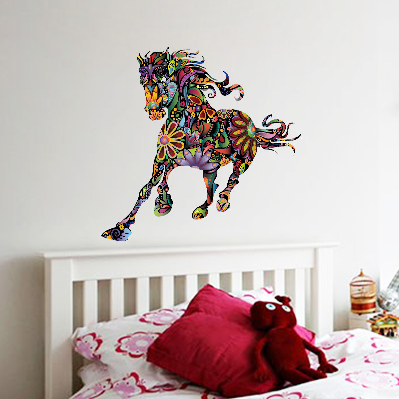 brand wall stickers for kids rooms colorful animal hors