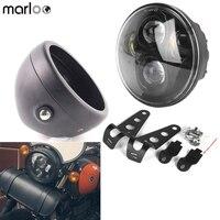 Marloo Harley Dyna 5.75 LED Daymaker Headlight, Bucket Bracket For kawasaki, Motorbikes, Metric bikes, Cruisers, Choppers