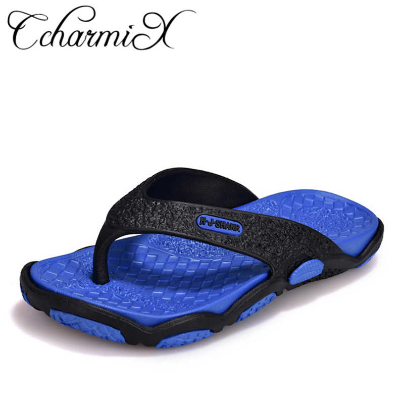 d6fe2a4d74f4 CcharmiX 2019 Mens Flip Flops Summer Men s New Style Rubber Soft Shoes  Outdoor Beach Men s Slippers