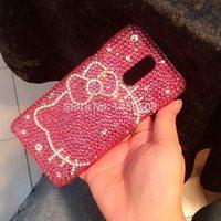 For Samsung Galaxy S3 S4 S5 S6 S7 Edge S8 S9 Plus Note 2 3 4 5 8 9 G530 A8 Star Hello kitty Full Rhinestone Case Diamond Cover