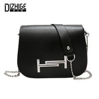 DIZHIGE Brand Fashion PU Leather Women Bag Solid High Quility Rivet Crossbody Bag For Women Designer