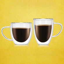 Double Coffee Mugs With the Handle Drinking Insulation Wall Glass Tea Cup Creative Gift Drinkware Milk #