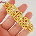 High Quality Luxury Wedding Bracelets for Women 24k Gold Plated Chain Bracelet Fashion Shining AAA Cubic Zircon Crystal Jewelry