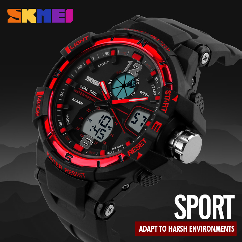 New Dual Display Watches Men Wristwatch Fashion Sports Watch Military Army Relogio Watches Men Brand Quartz Digital Mens Clock