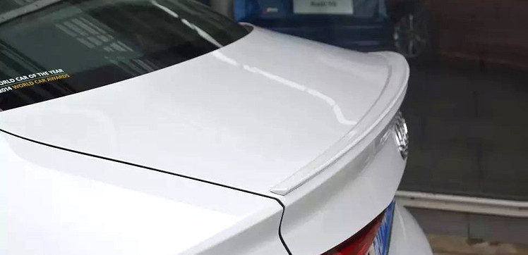 Trunk Boot <font><b>Spoiler</b></font> Lip Wing Fit For <font><b>Audi</b></font> <font><b>A3</b></font> ABS <font><b>Sportback</b></font> 4Door 2012-2018 Unpainted and paint color image