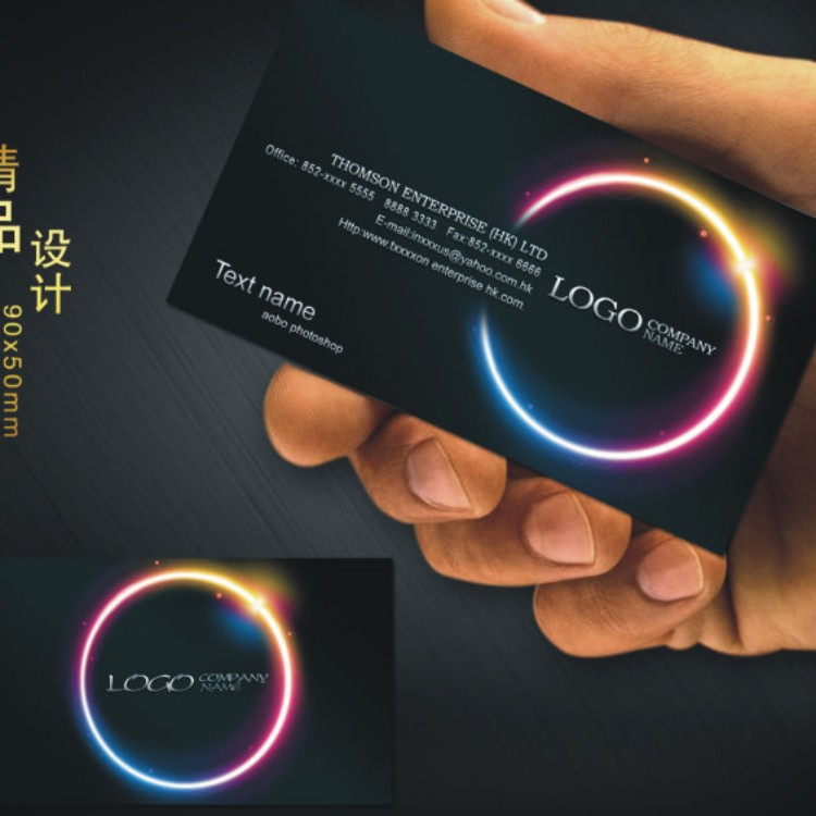 Custom  Black Business Card Printing Free Design And Full Color  Two Sided Printing Personalized Business Cards 500 Pcs /lot