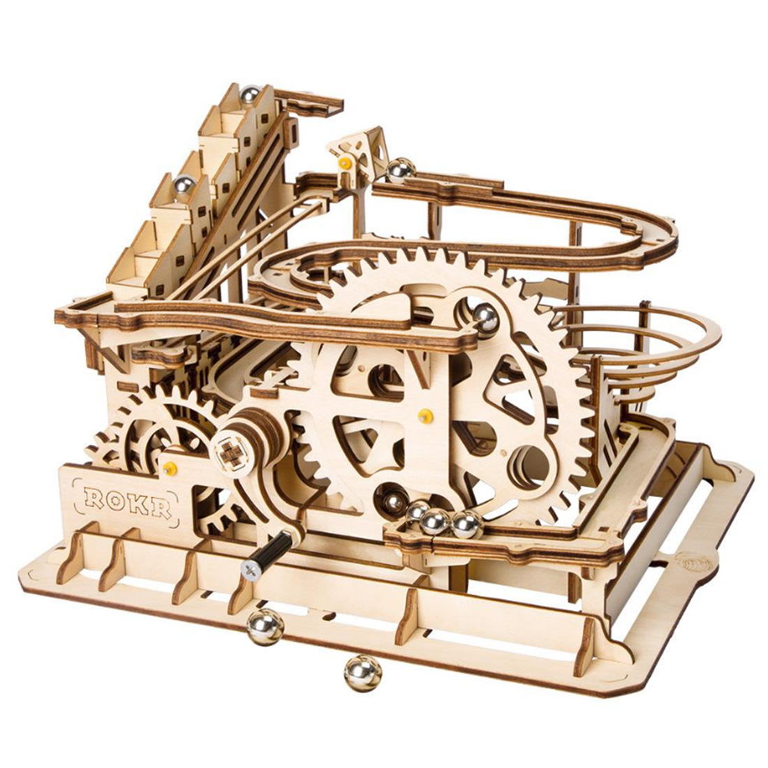 Surwish Waterwheel Coaster Shape 3D Painting Puzzle DIY Assemble Stem Toys For Kids Braining