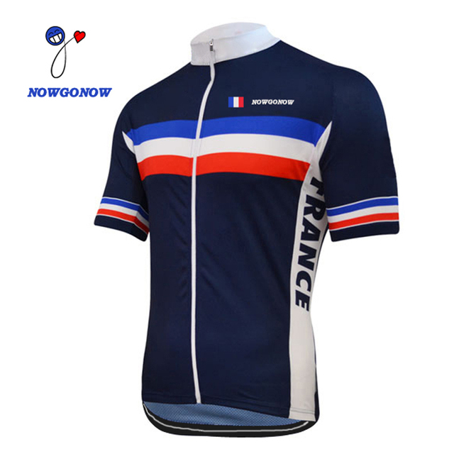 2e3277ed6 HOT tour 2017 cycling jersey France team bike clothing maillot ropa ciclismo  racing riding nowgonow 100% polyester Breathable