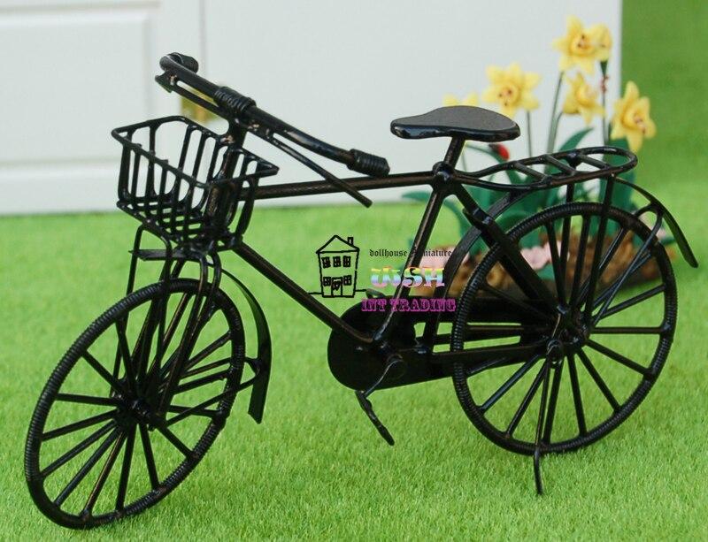 Koop 4 8 1 12 poppenhuis miniatuur for Metalen decoratie fiets