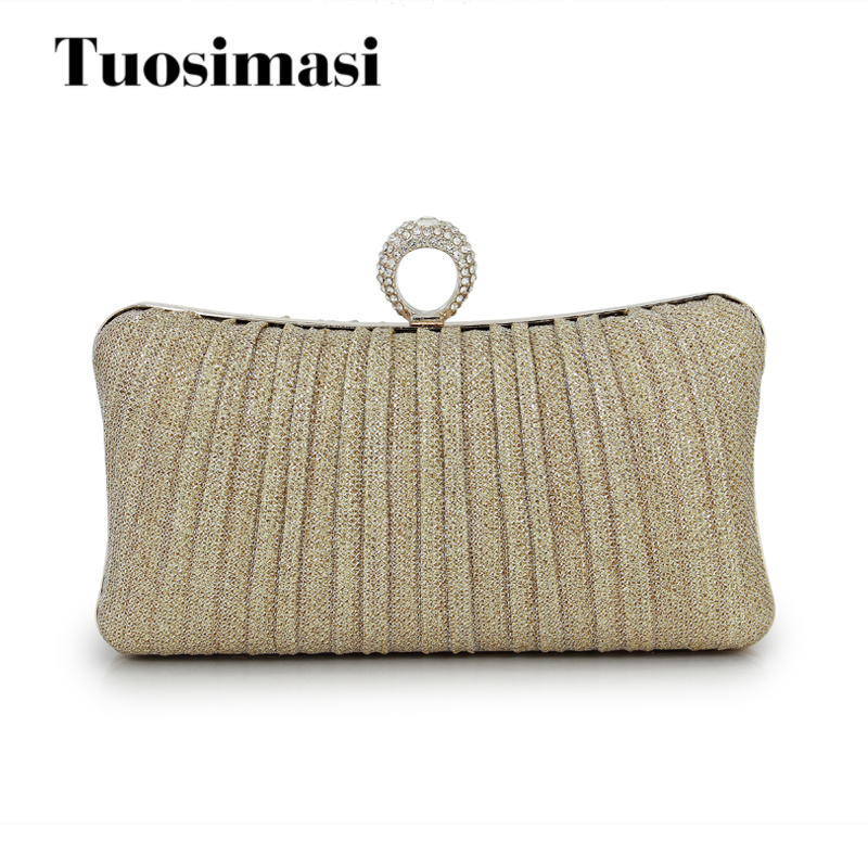 2018 new Clutch lady evening bags brand fashion gold hand bag woman party wallet prom luxury Clutch(C1610)
