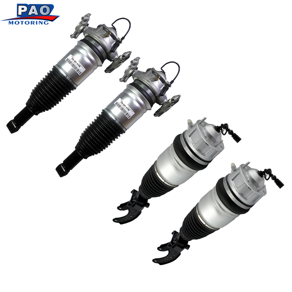 4PC New Front and Rear Air Suspension For Audi Q7 Porsch Cayenn Volkswage VW Touareg 2010-2015 7P6601019K 7P6616039N Shock Car колесные диски replikey audi q7 vw touareg 8 5xr18 5x130 et58 d71 6 gmf артикул rk05112