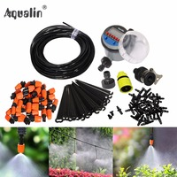25m Automatic Micro Drip Irrigation System Garden Irrigation Spray Self Watering Kits With Adjustable Dripper 26301