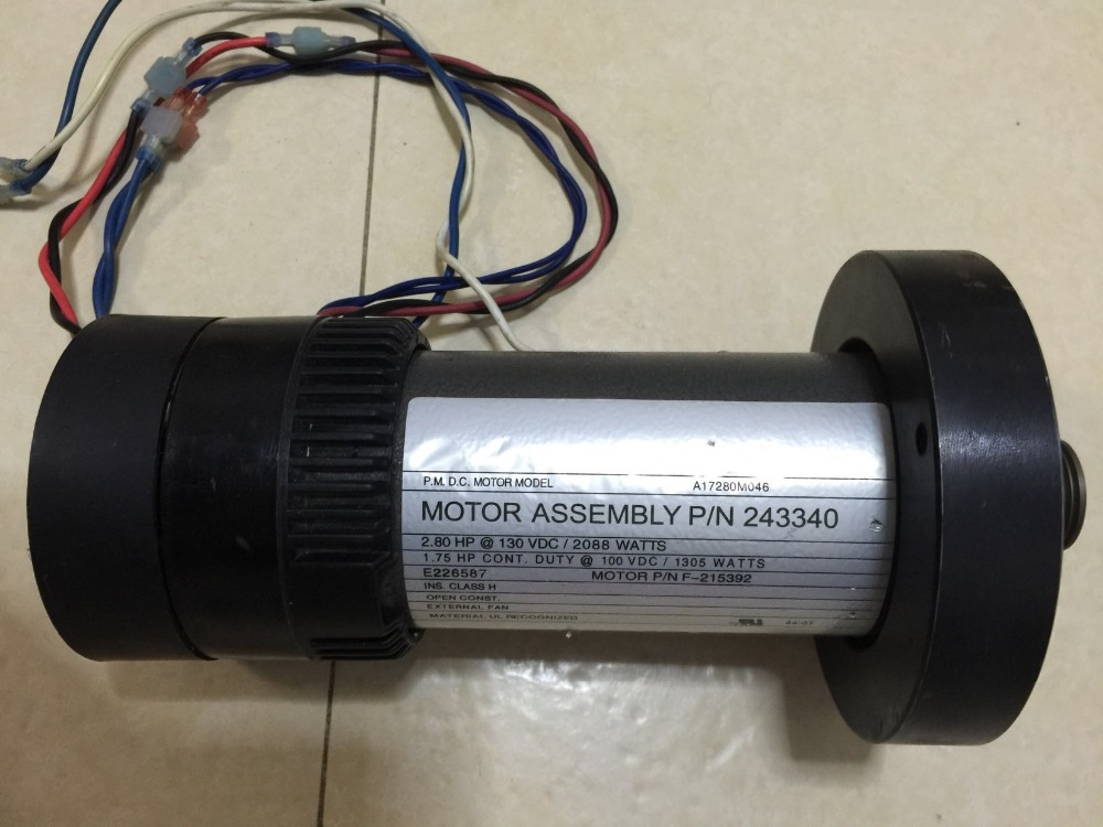 Fast Shipping DC motor for treadmill model: A17280M046  P/N  243340  PN F-215392 fast p