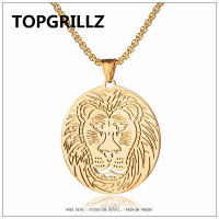 TOPGRILLZS MEXICAN TATTOOED VULTURE TITANIUM STEEL PENDANT NECKLACE