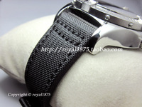 High Strength Composite Fiber Straps 20mm 22mm Inside Leather Men Watch Band With Watch Stainless Steel