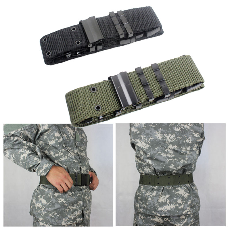9c06c82fb04e21 Woven Tactical Belt Mens Military Waist Belt For Hunting Shooting Heavy  Duty Buckle Airsoft Adjustable Training